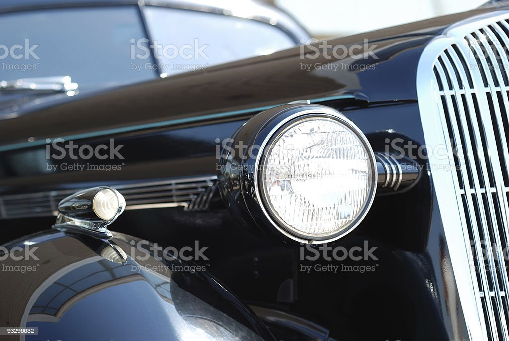 The old vintage black car royalty-free stock photo