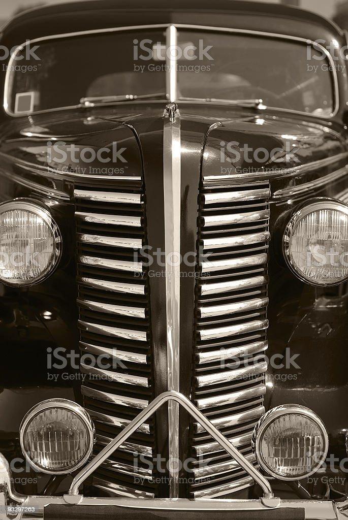 The old vintage black car stock photo