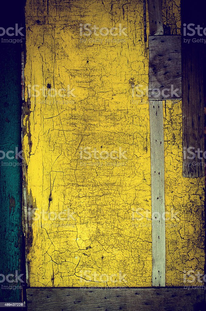 The old vintage wooden doors stock photo