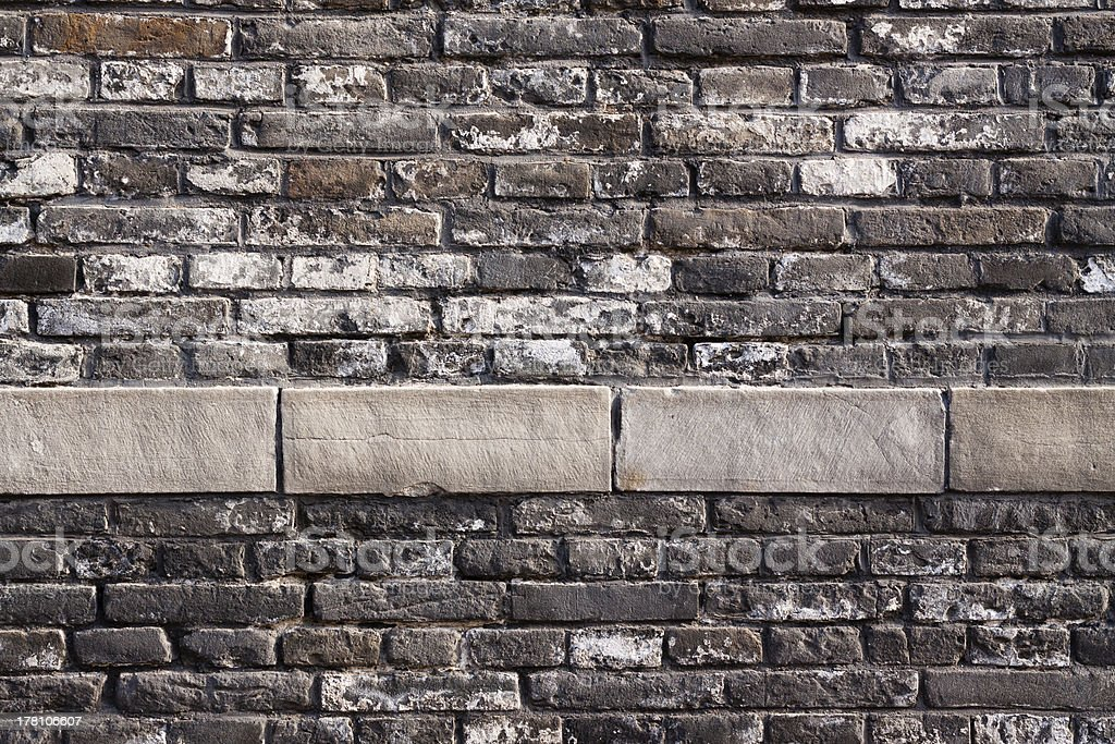 The old  wall stock photo