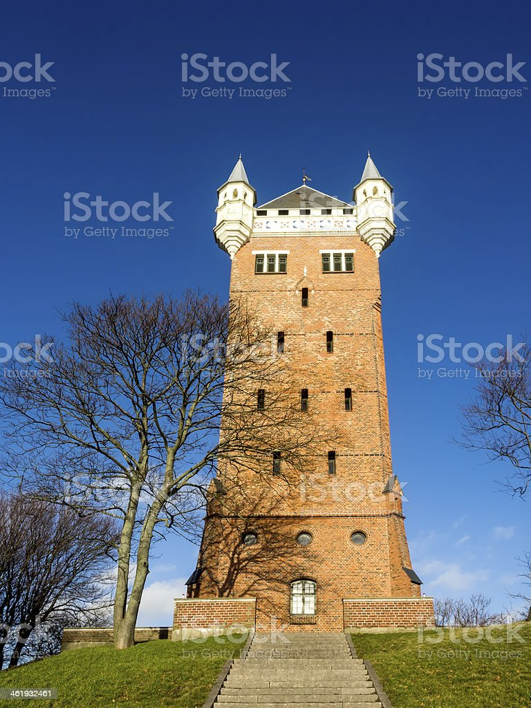 The old water tower, Esbjerg, Denmark stock photo