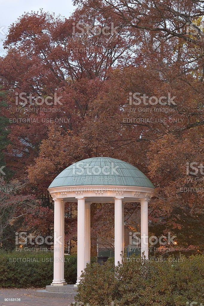 The Old Well of UNC in Chapel Hill stock photo