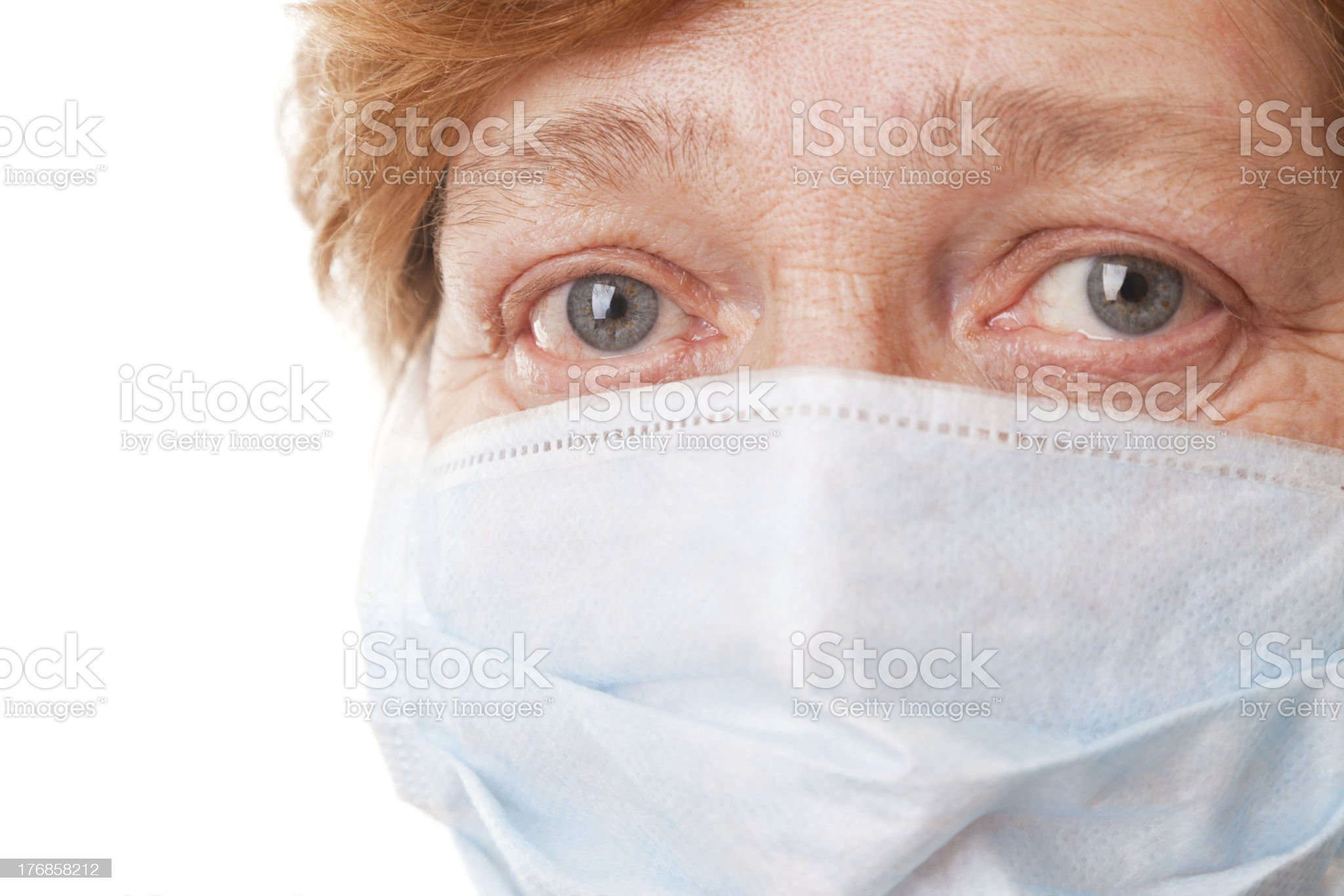 The old women in a Surgical Mask royalty-free stock photo
