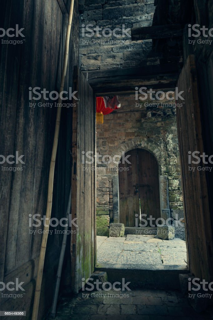 The old wood house stock photo