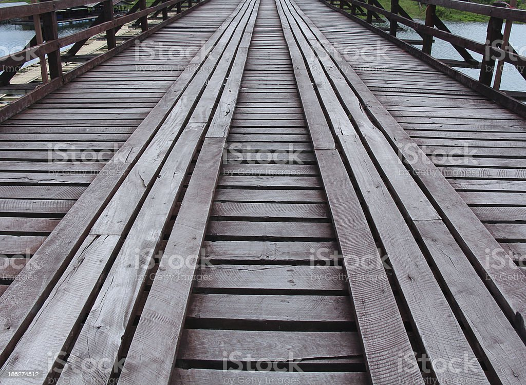 The old wooden bridge royalty-free stock photo