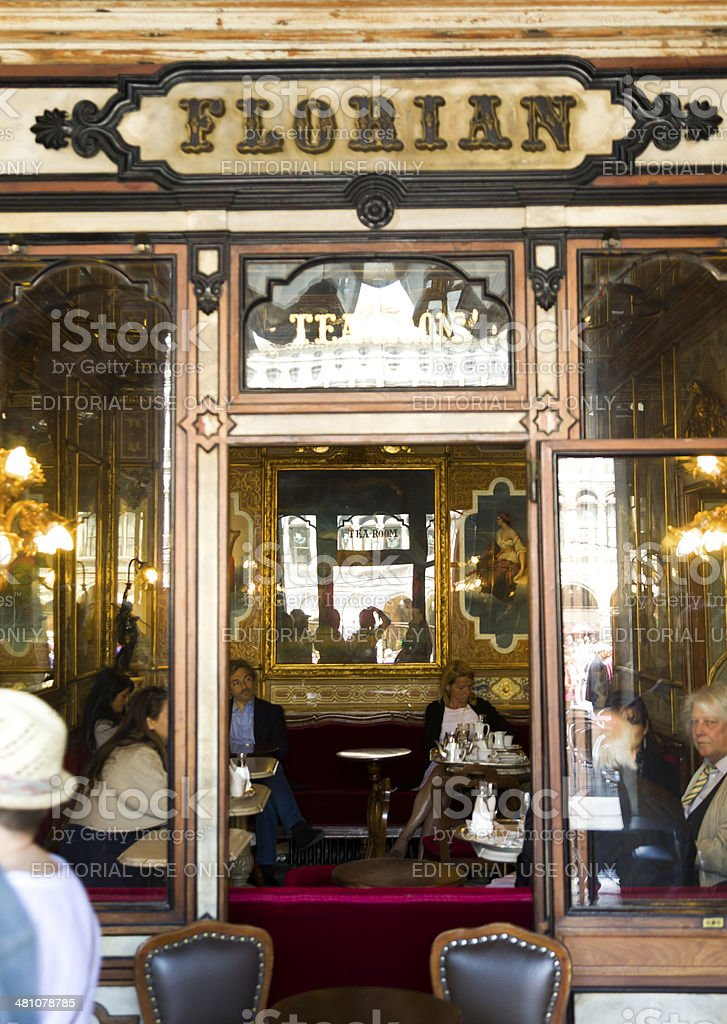 The oldest cafe in Venice. stock photo