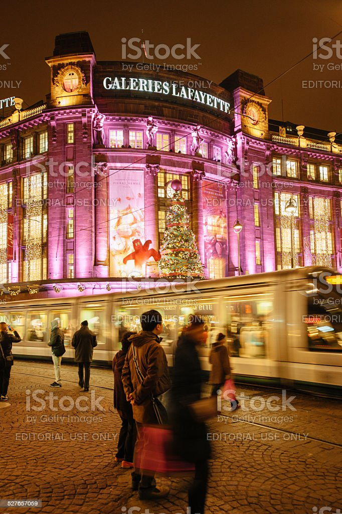 The oldest Christmas Market in Europe - Strasbourg, Alsace stock photo