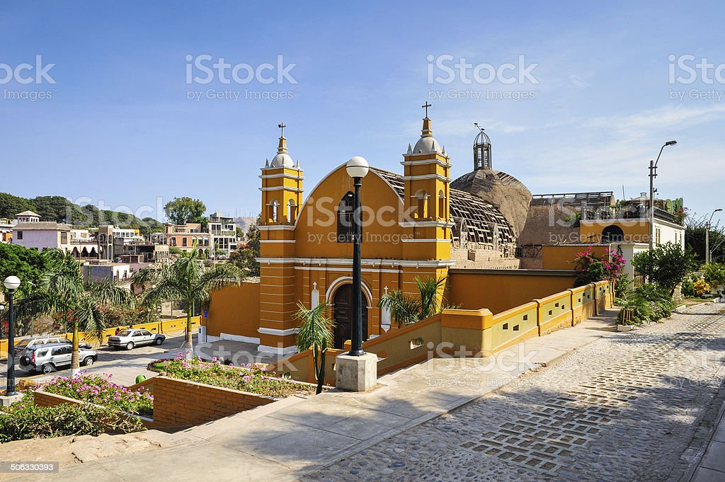 The oldest church in Lima, Peru stock photo