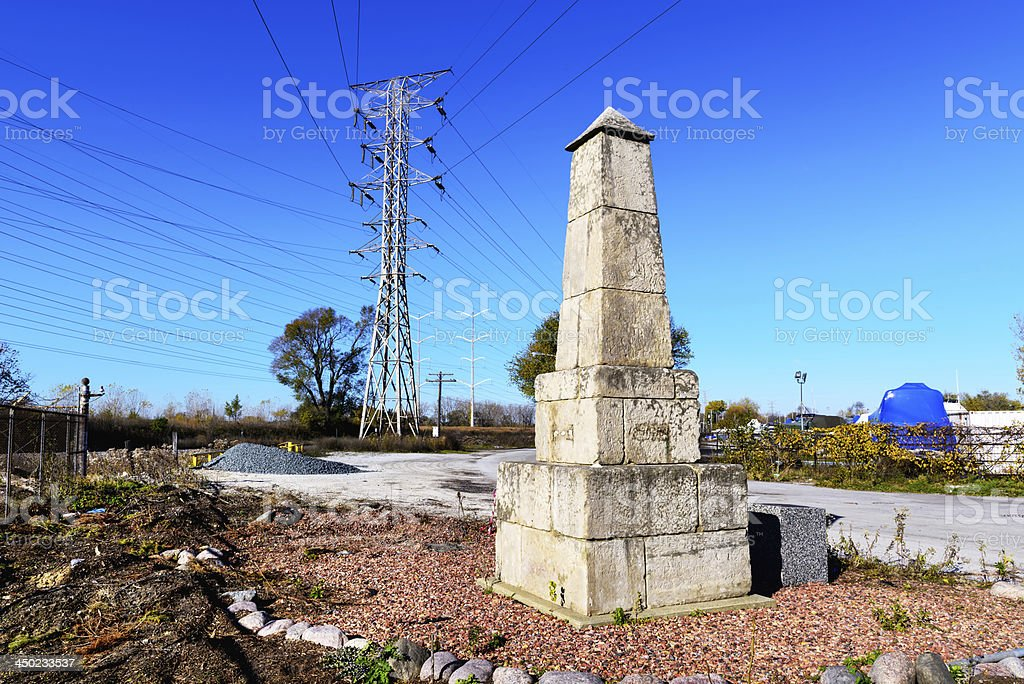 The Oldest Monument in Chicago stock photo