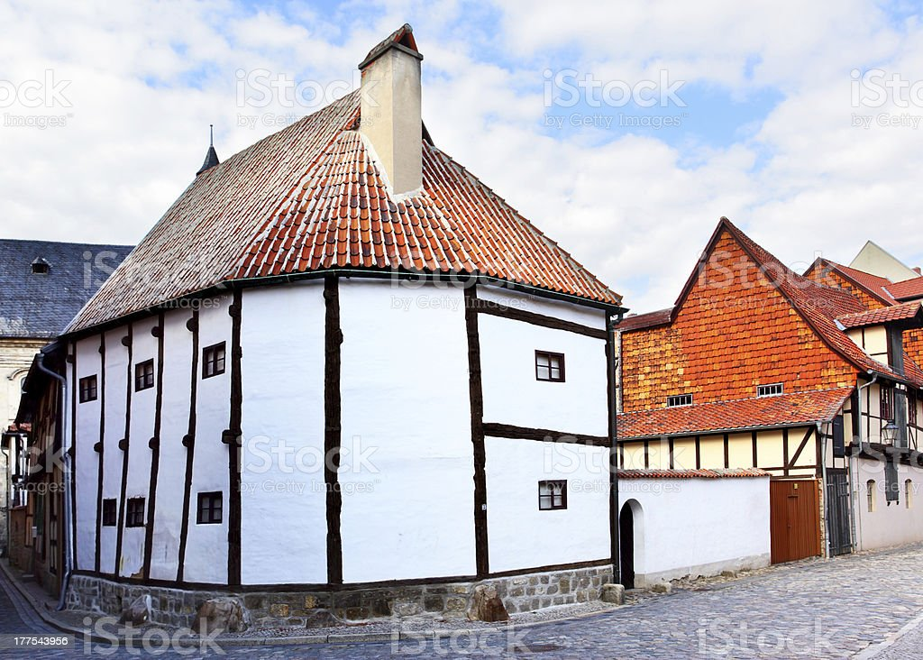 The oldest timber framing house stock photo
