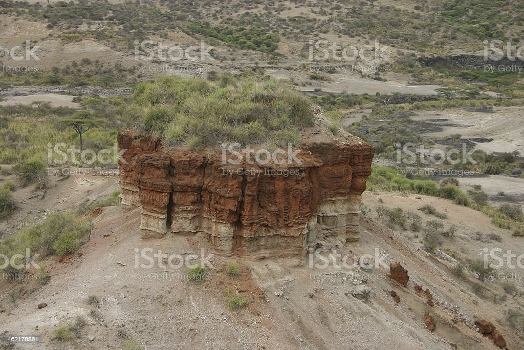 The Olduvai Gorge, 'The Cradle of Mankind', Tanzania, Africa stock photo
