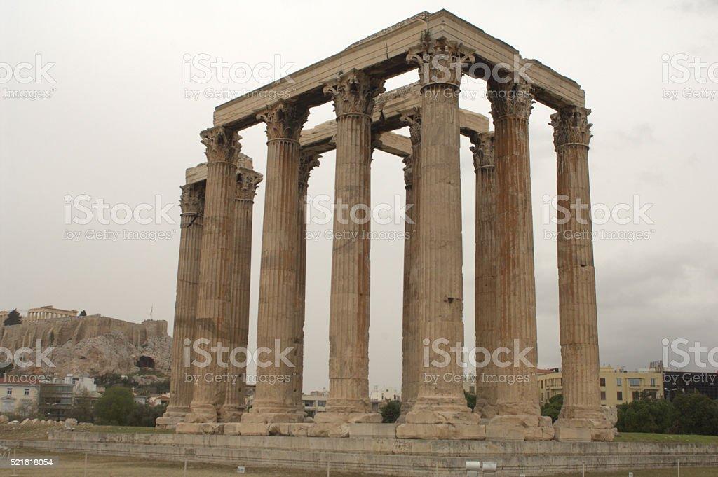 The Olympian Zeus Columns stock photo