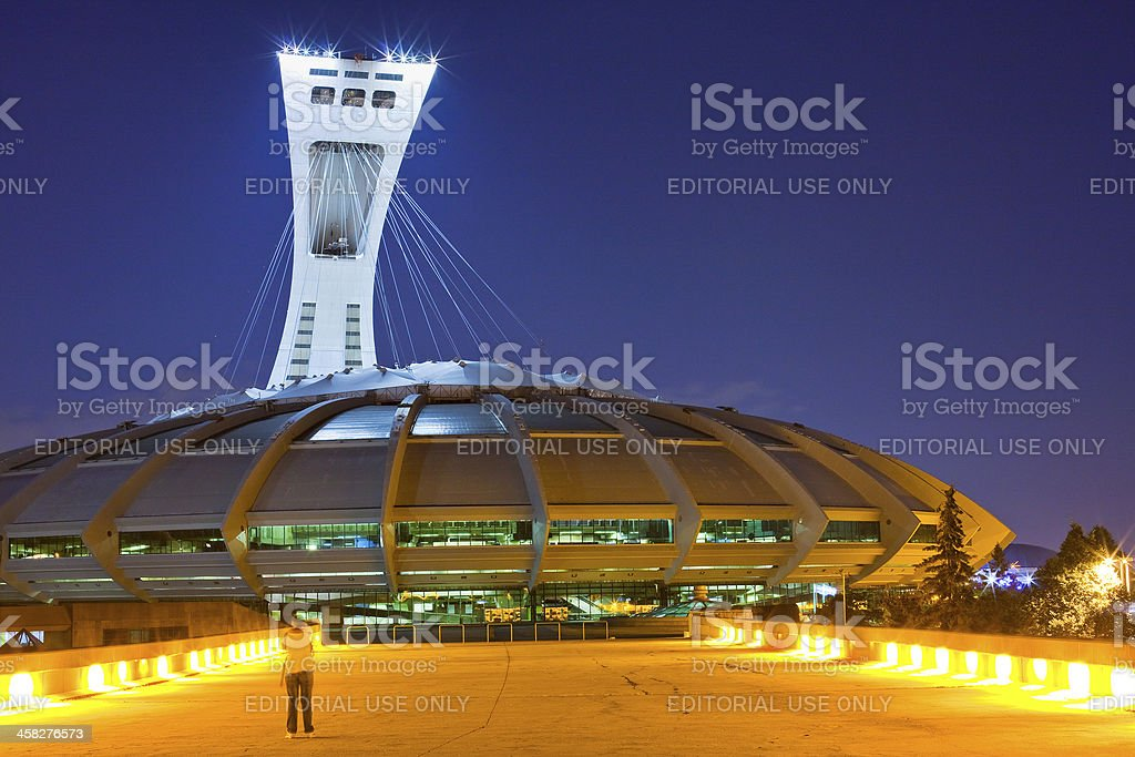 The Olympic stadium of Montreal, Canada stock photo