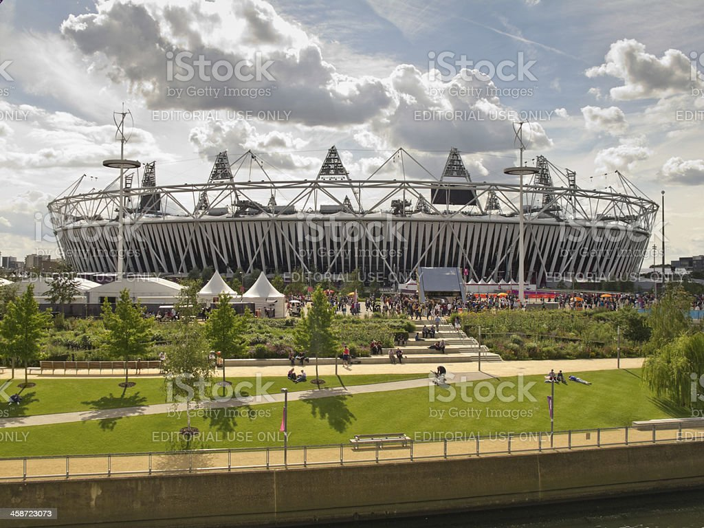 The Olympic Stadium stock photo