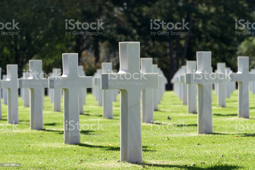 The Omaha Beach Monument, Normandy, France stock photo