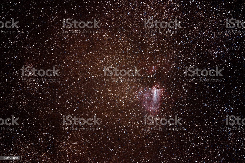 The Omega Nebula, also known as the Swan Nebula stock photo