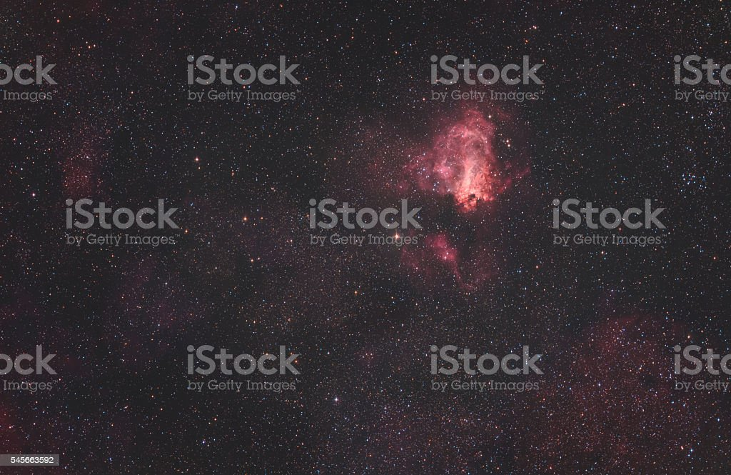 The Omega Nebula stock photo