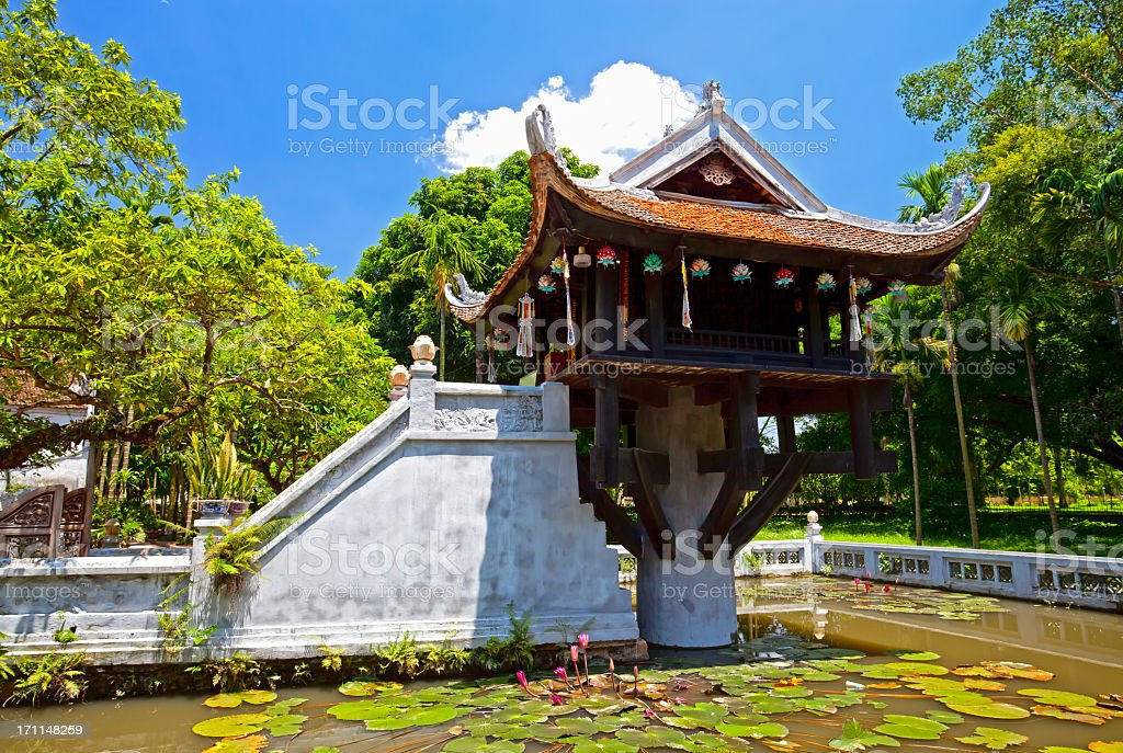 The One Pillar Pagoda, Hanoi, Vietnam stock photo