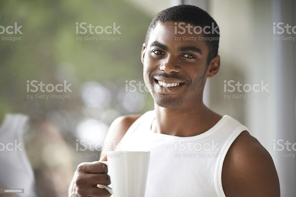 The only way to start a weekend royalty-free stock photo