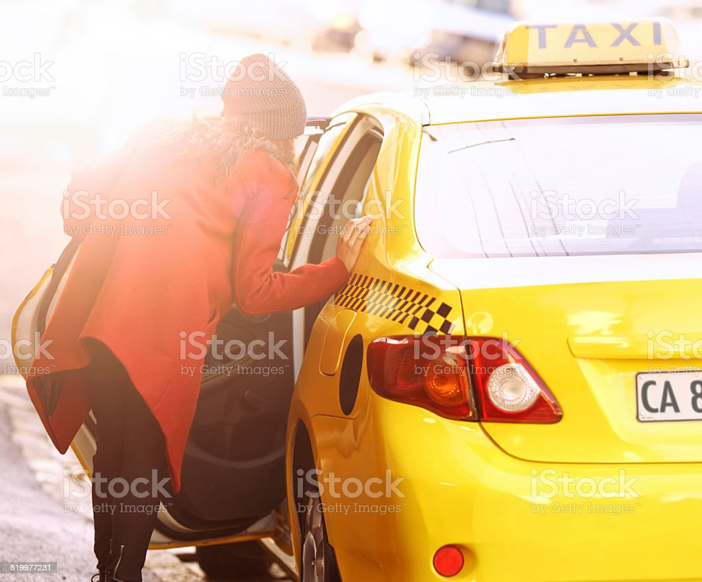 The only way to travel in the city stock photo