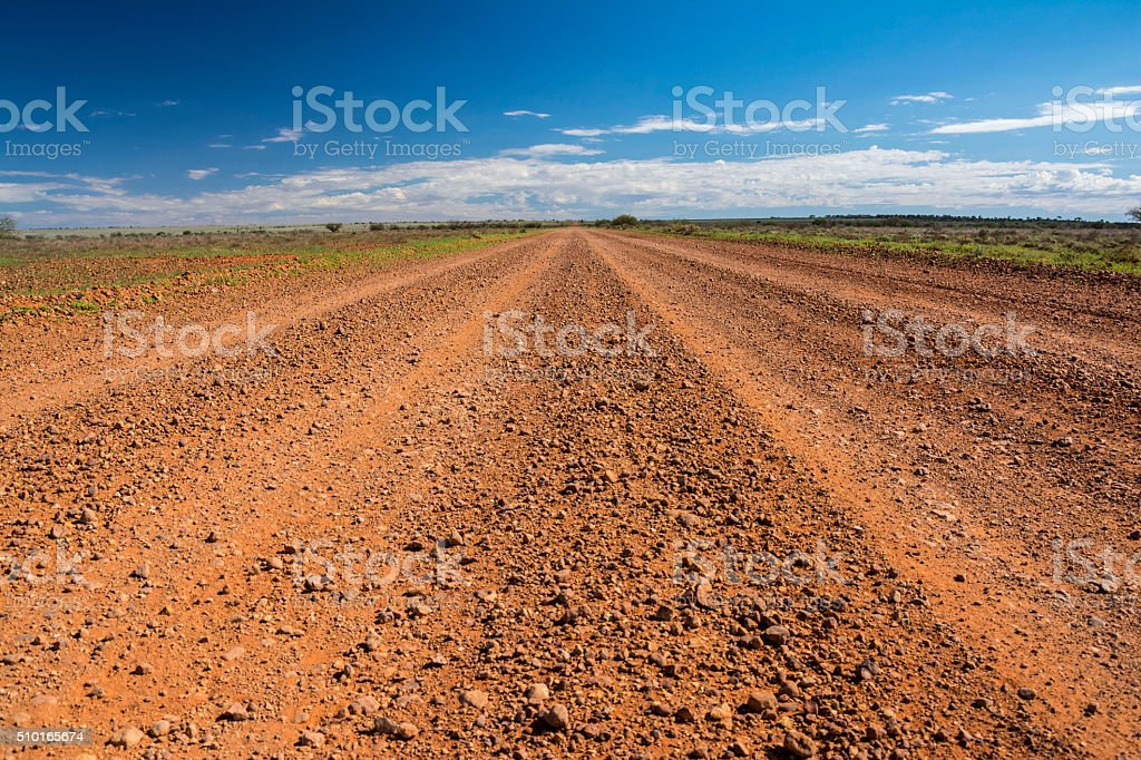 The Oodnadatta Track in the outback of Australia stock photo