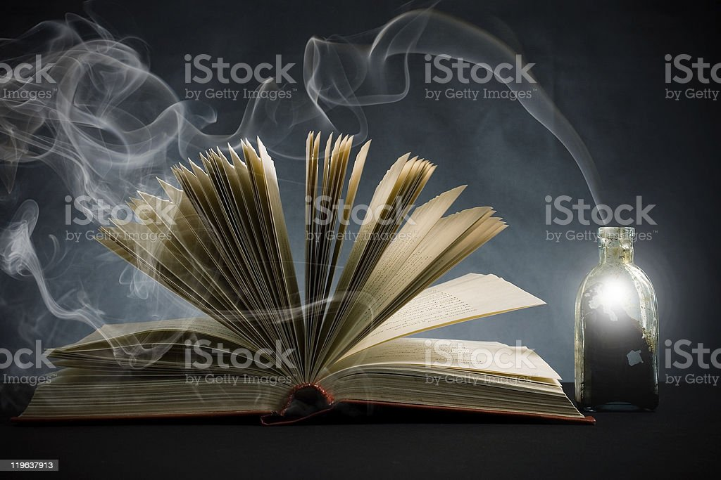 The open book and magic means. royalty-free stock photo