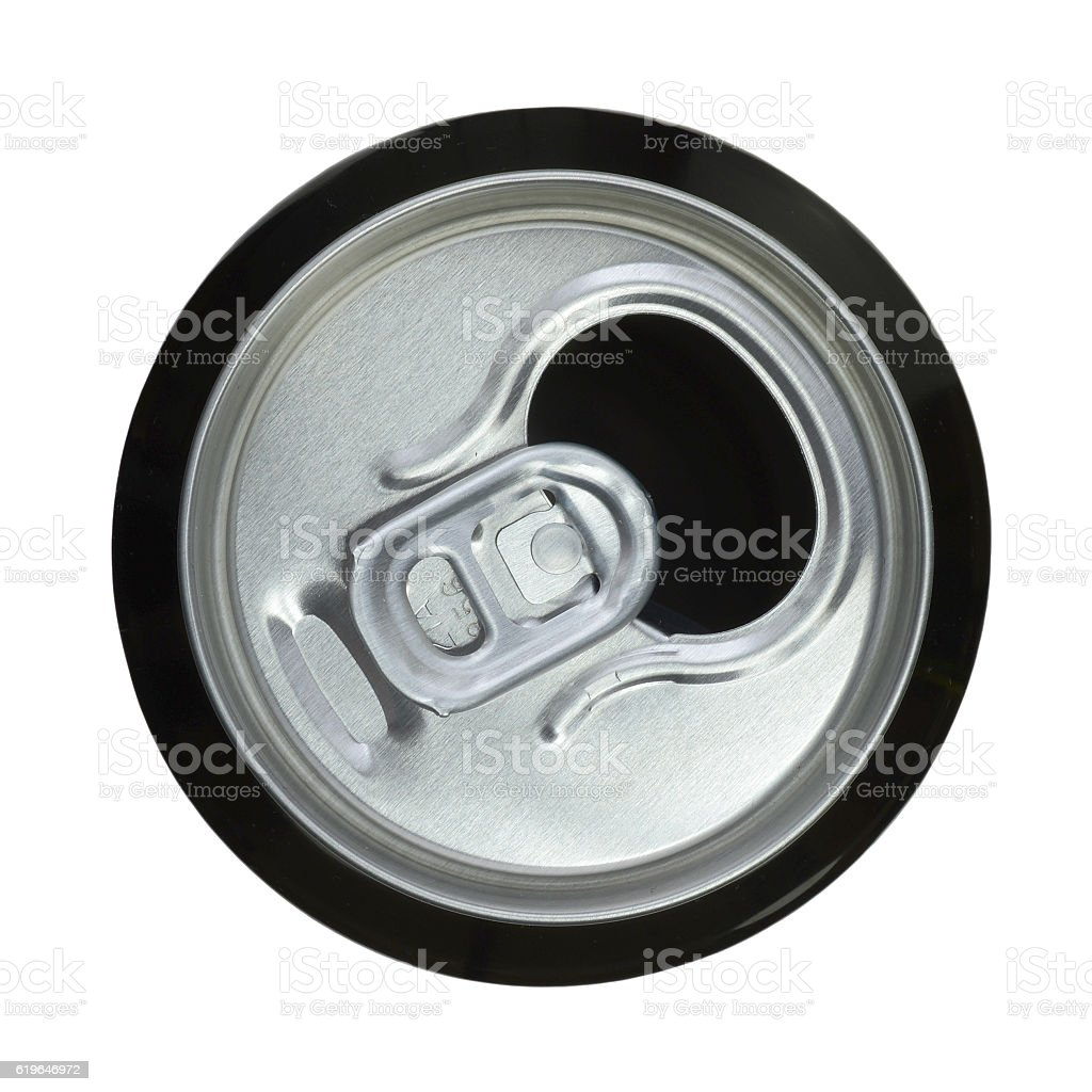 The open can of beer. stock photo
