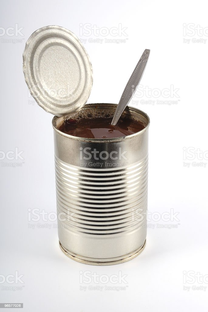 The open metal can stock photo