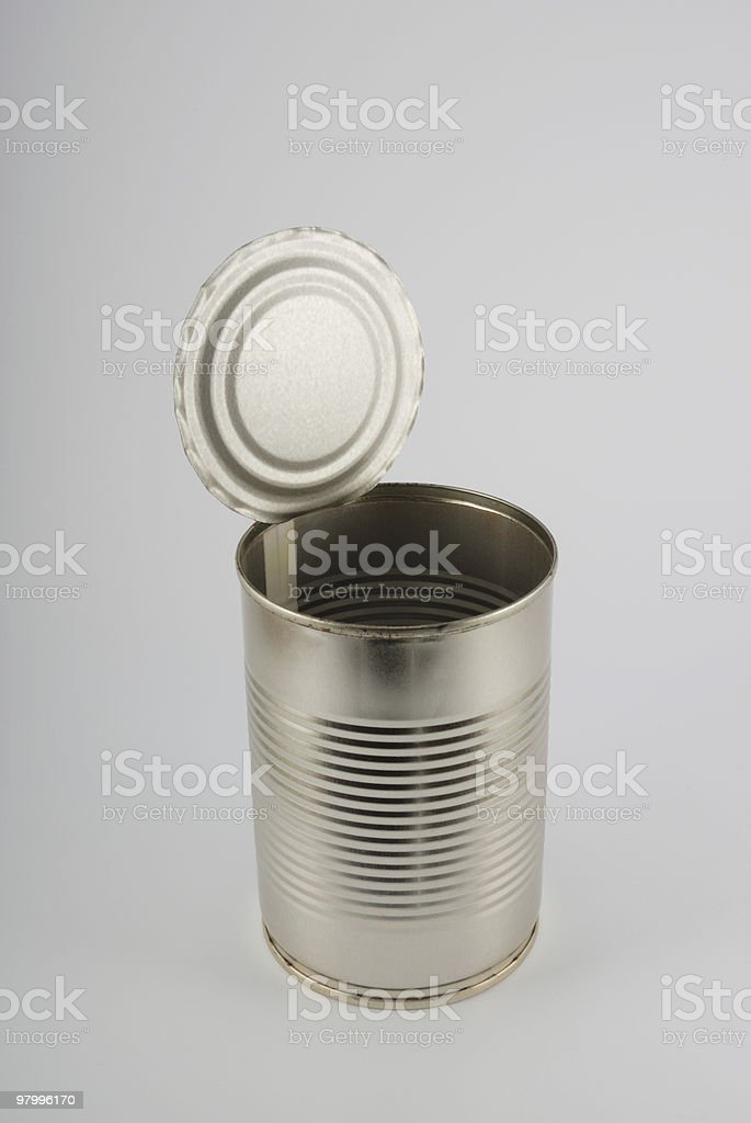 The open metal can royalty-free stock photo