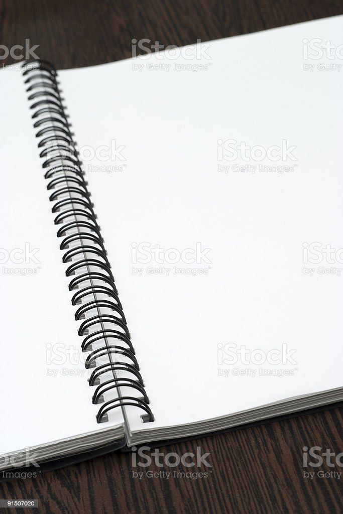 The open notebook stock photo