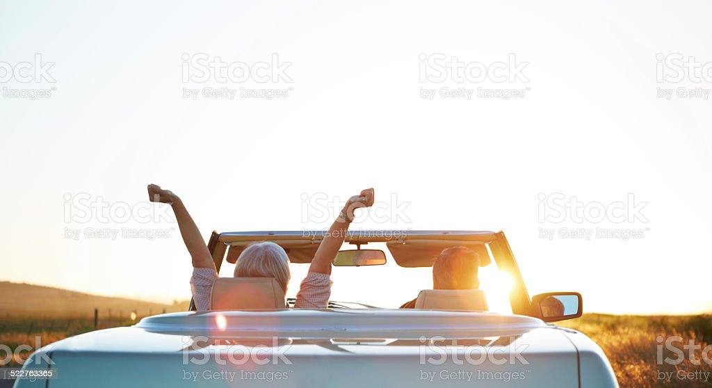 The open road is calling stock photo