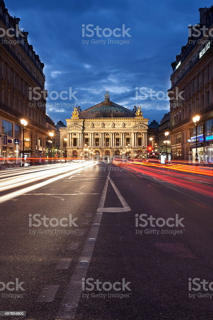 The 'Opera Garnier' stock photo