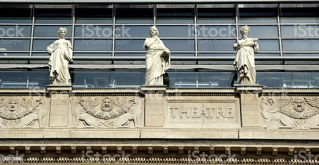 The opera house in Lyon (France) royalty-free stock photo