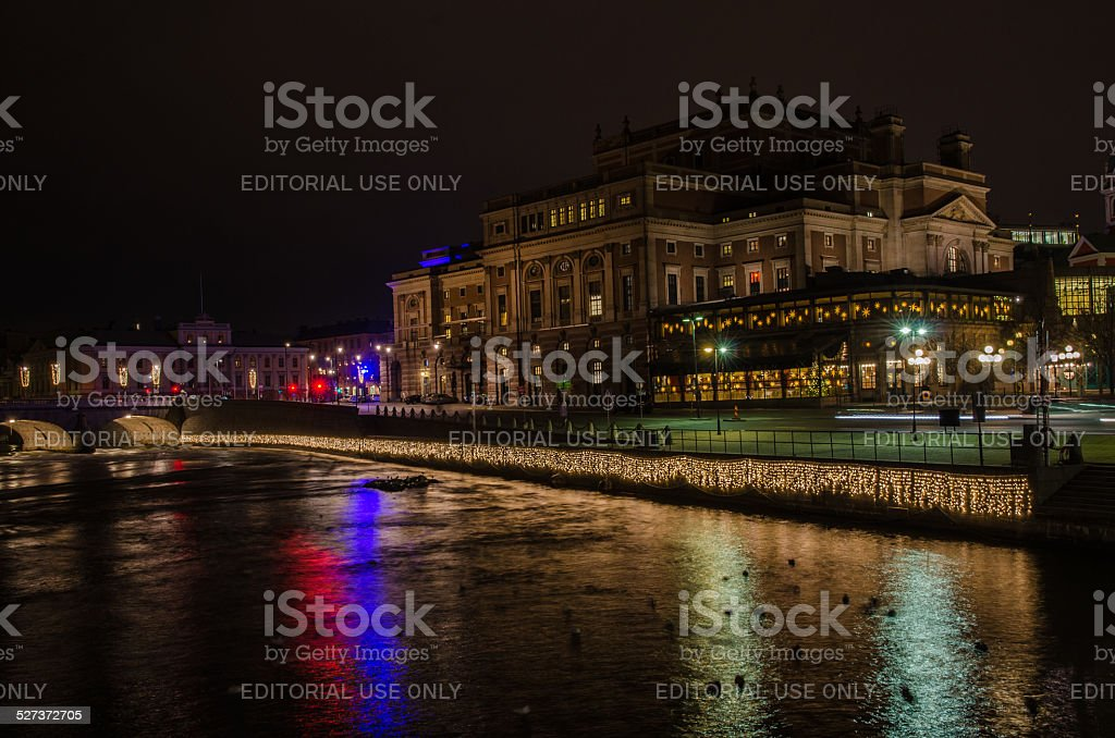 The Opera House in Stockholm,Sweden stock photo