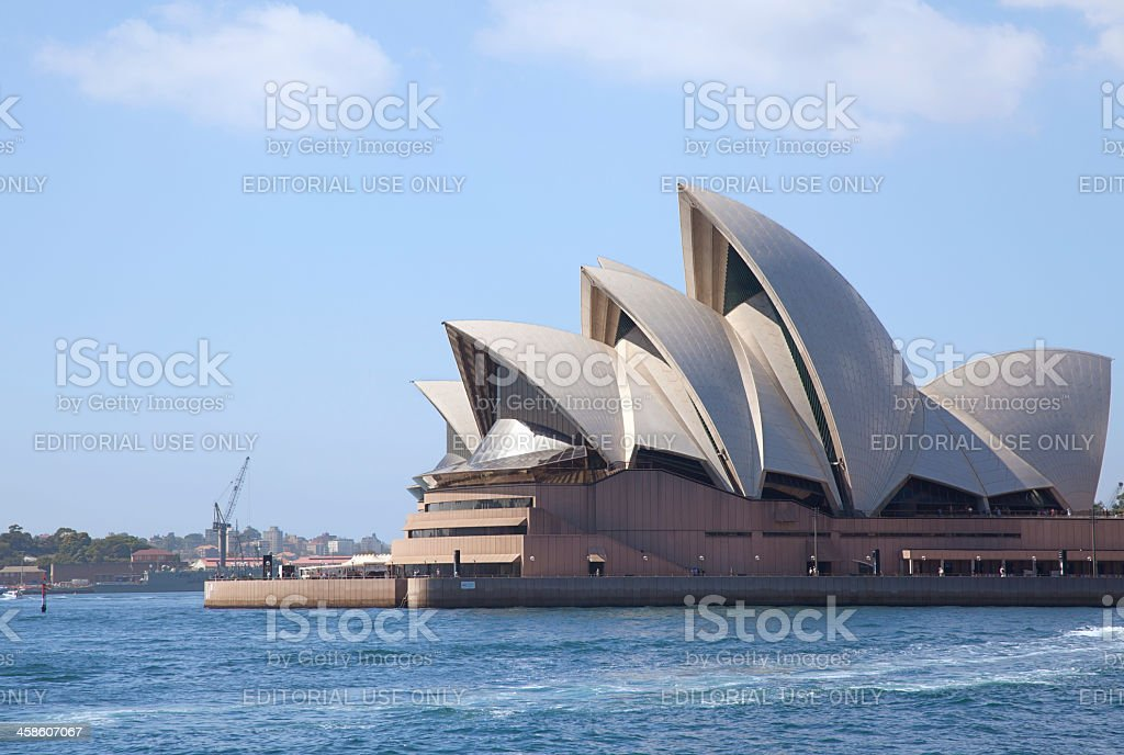 The Opera House on Sydney Harbour, Australia royalty-free stock photo