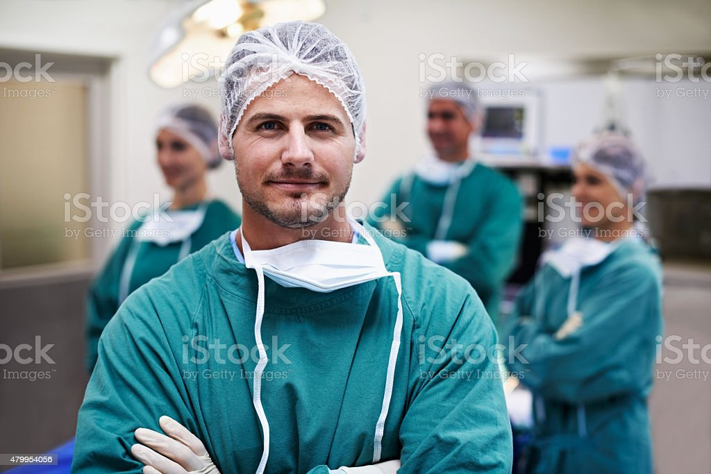 The operation was a complete success stock photo