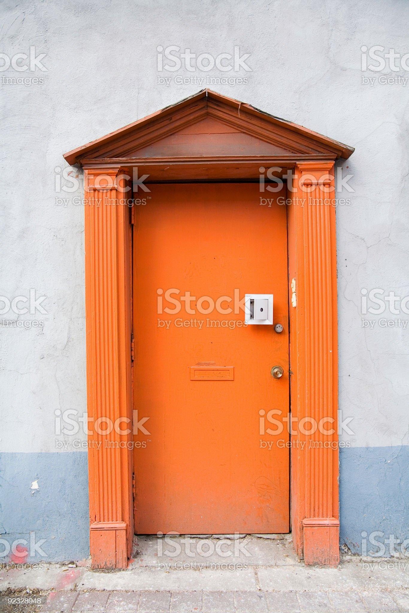 the orange door royalty-free stock photo