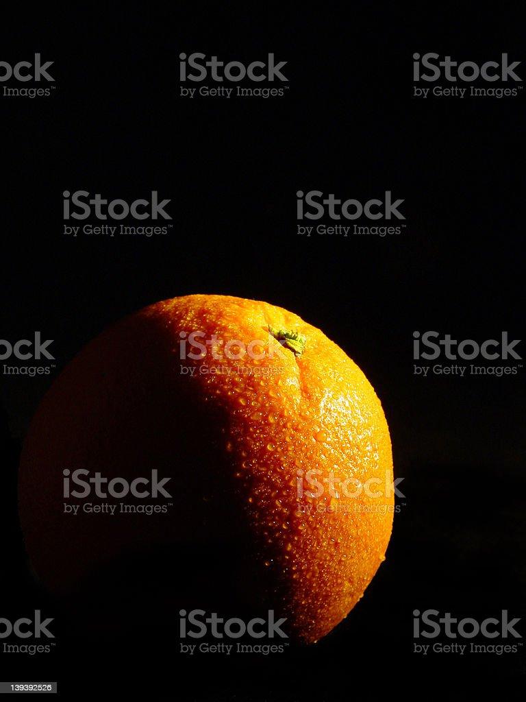 The orange light royalty-free stock photo