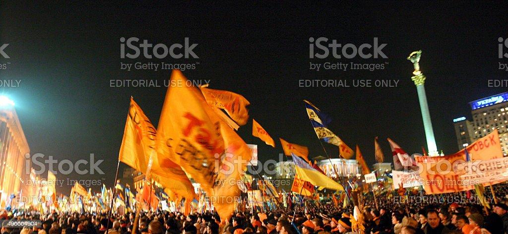 The Orange Revolution stock photo