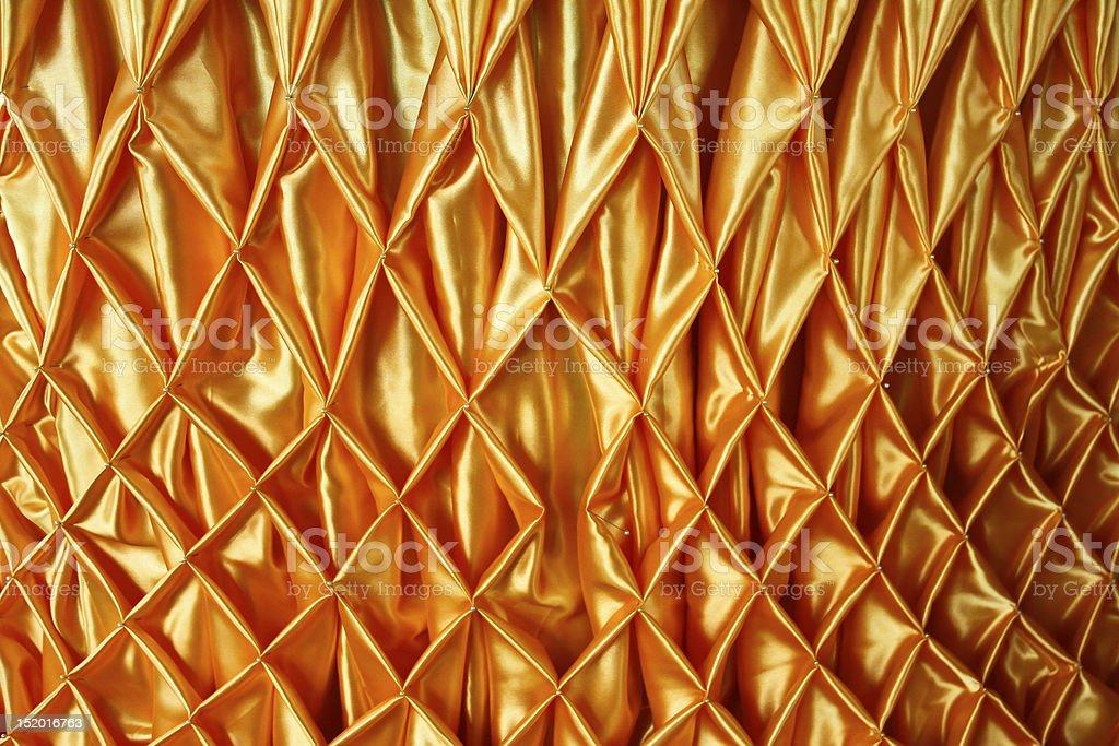 The orange thai design of native cloth royalty-free stock photo