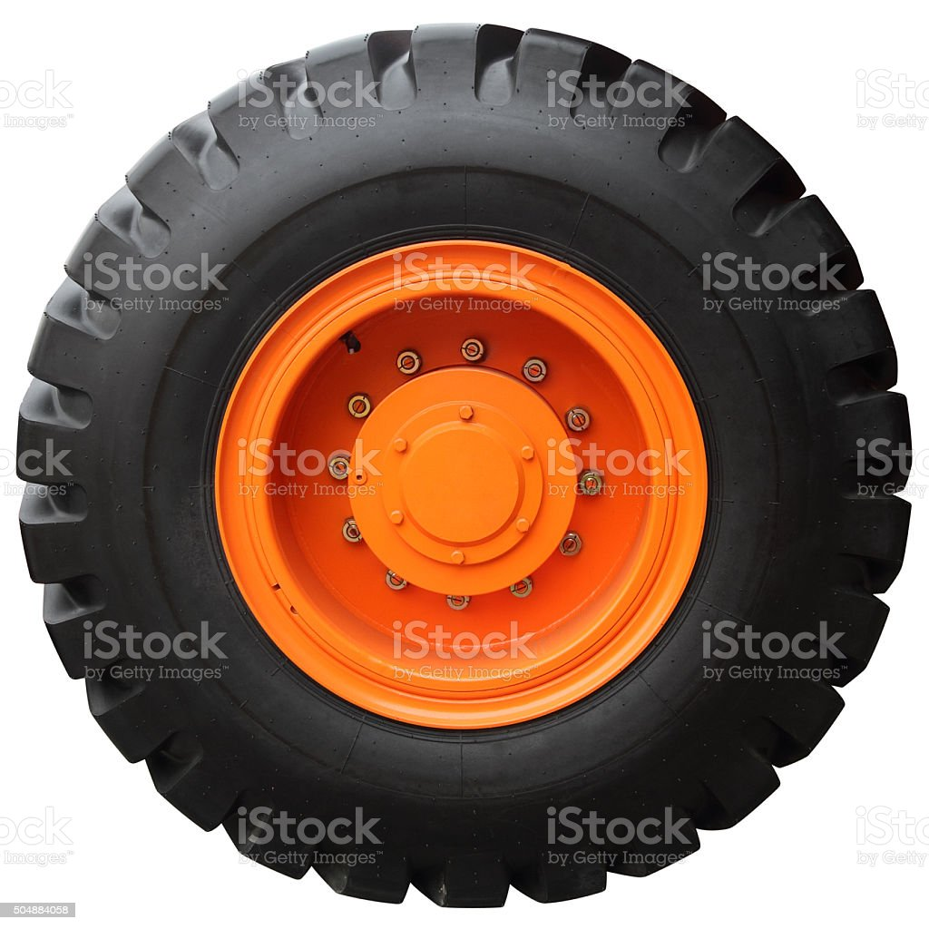 The orange wheel stock photo
