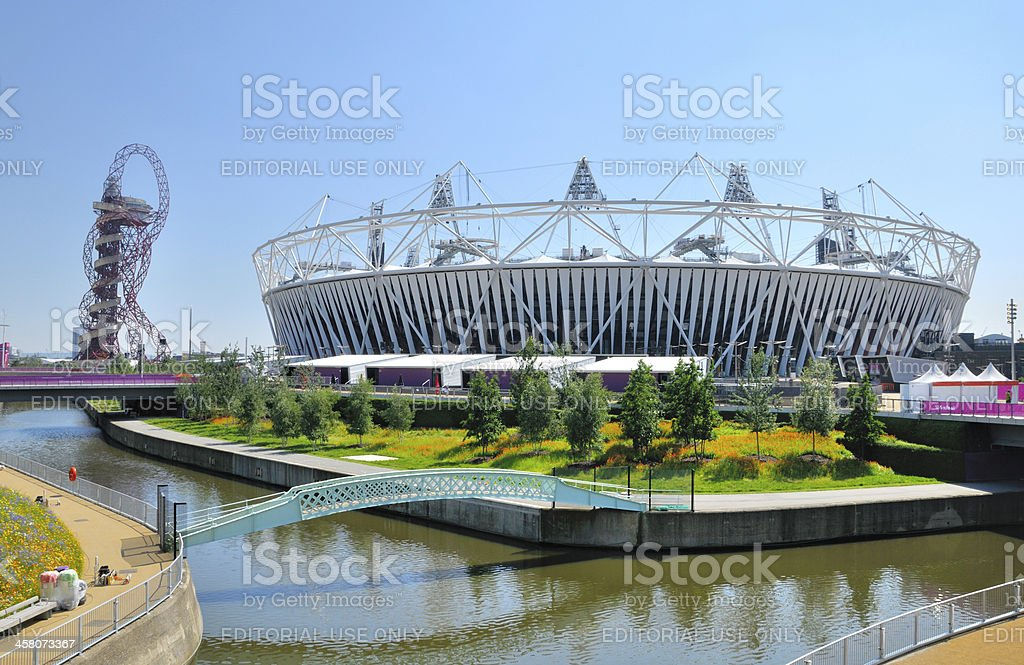 The Orbit and Olympic Stadium stock photo