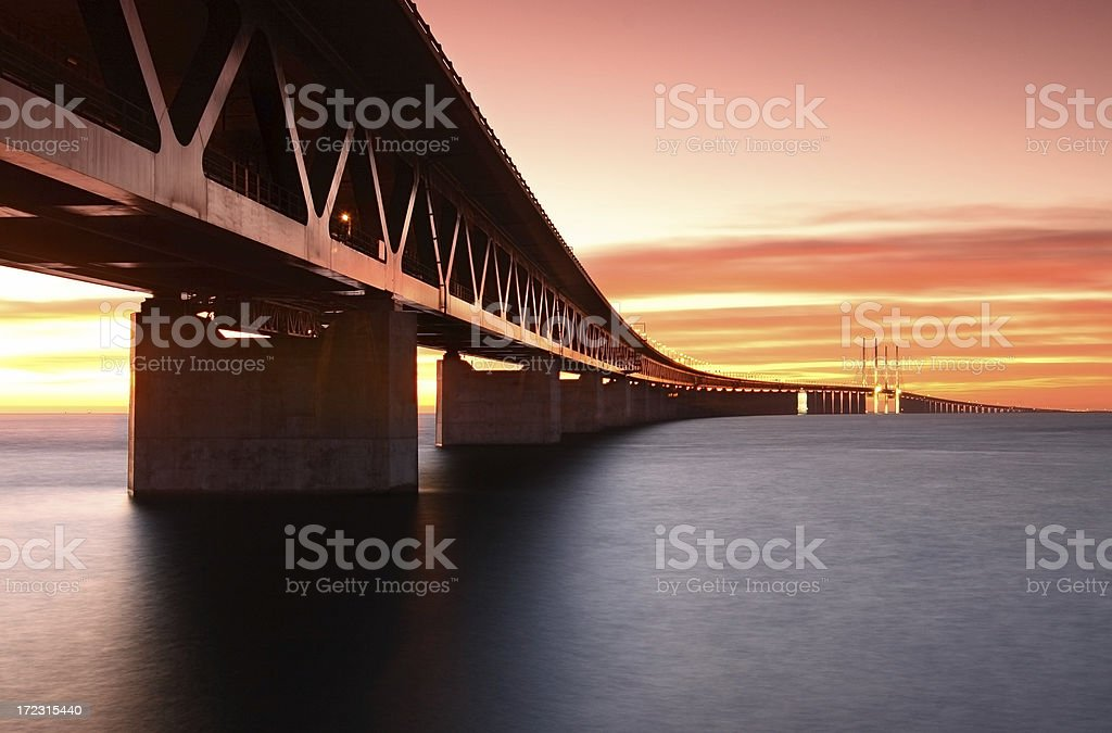 The Oresund bridge stock photo