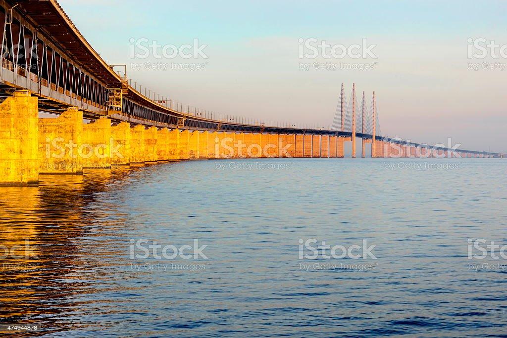 the Oresund Bridge,Malamo, Sweden, Europe stock photo