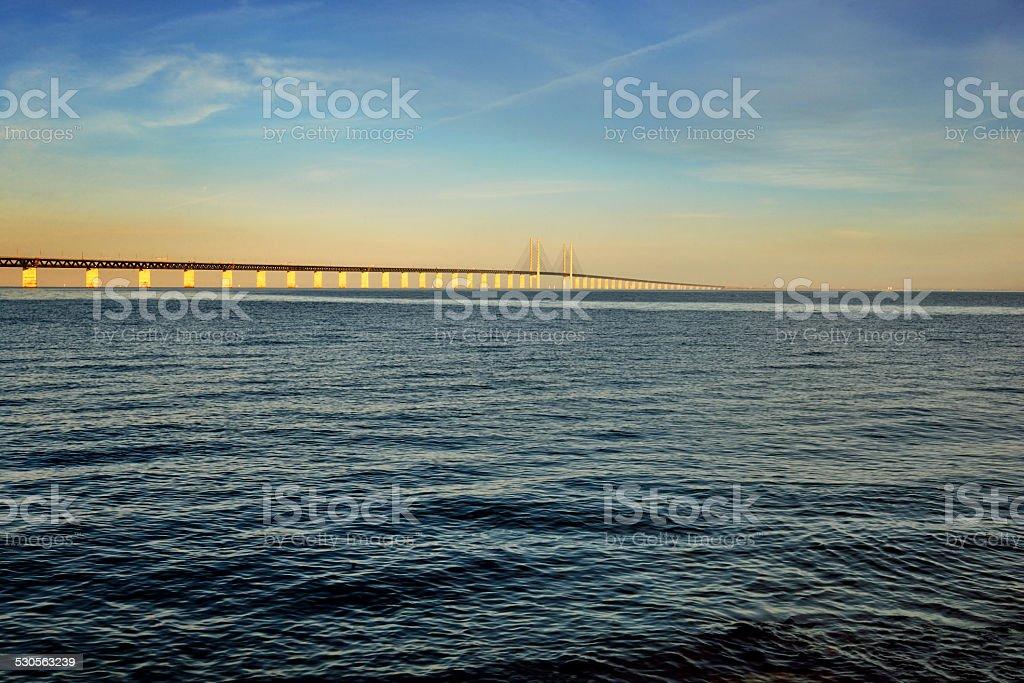 the Oresund Bridge,Malamo, Sweden stock photo