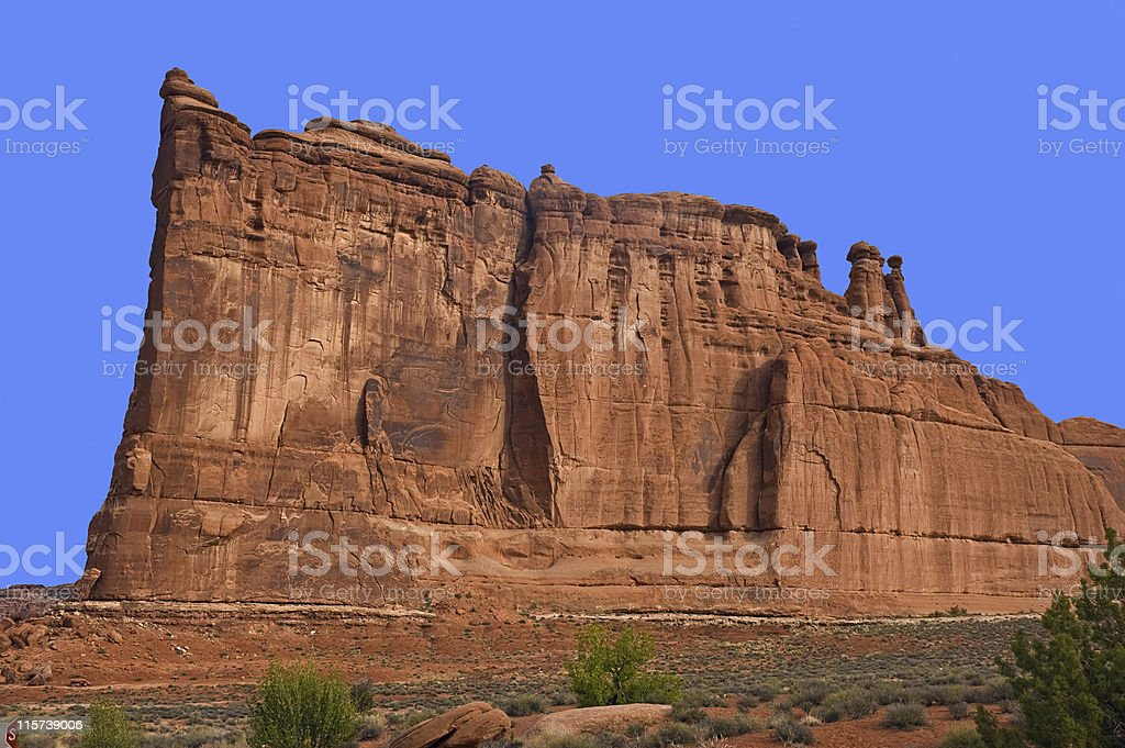 The Organ, Arches National Park stock photo