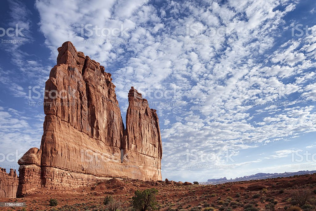 The Organ, Arches National Park royalty-free stock photo