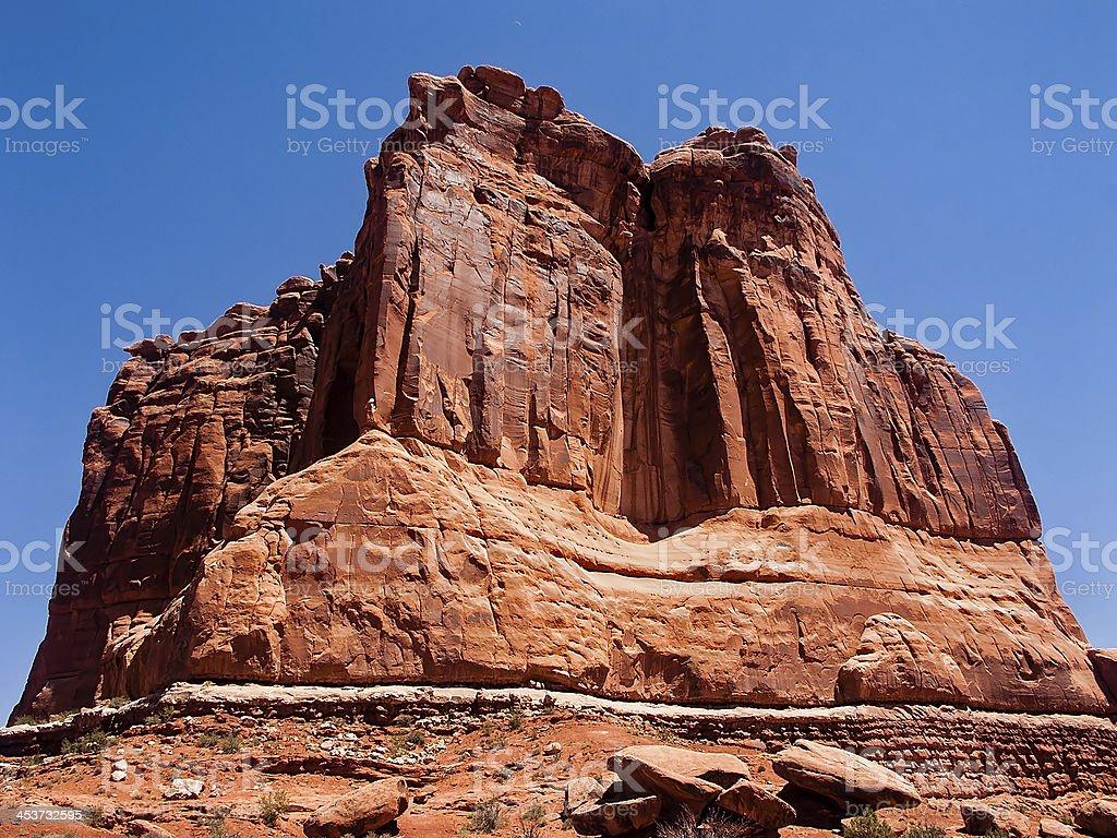The Organ, Arches National Park, Utah stock photo