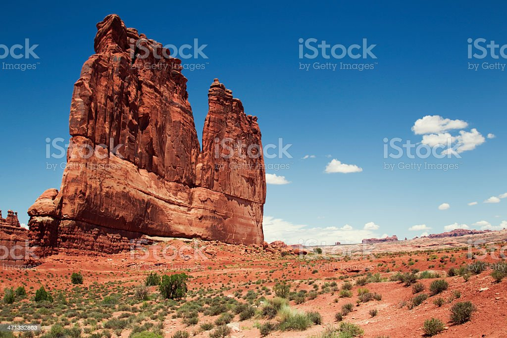 'The Organ' Formation - Arches National Park, Utah stock photo