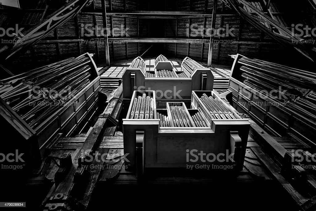 The organ pipes royalty-free stock photo